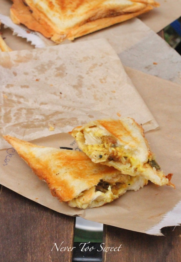 Chicken, Curry, Mayo Jaffle $4.5