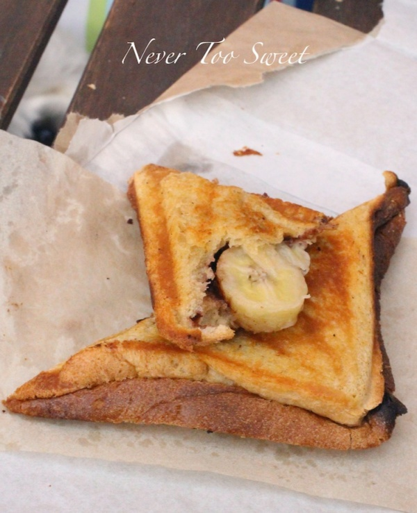 Banana and Nutella $4.5
