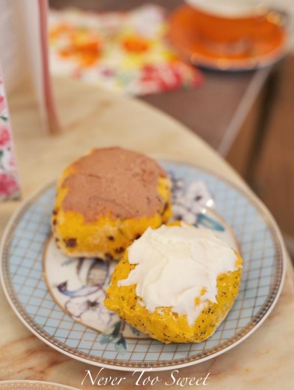 Orange Poppy Seed and Orange Chocolate Scone