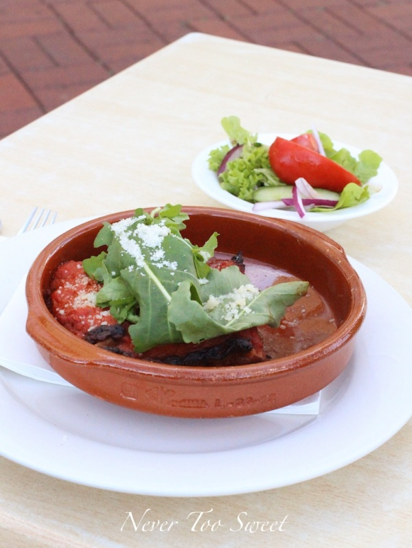 Beef cheek lasagne with salad $16.90