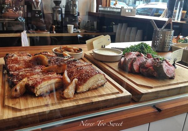 Slow roasted pork belly $11.50