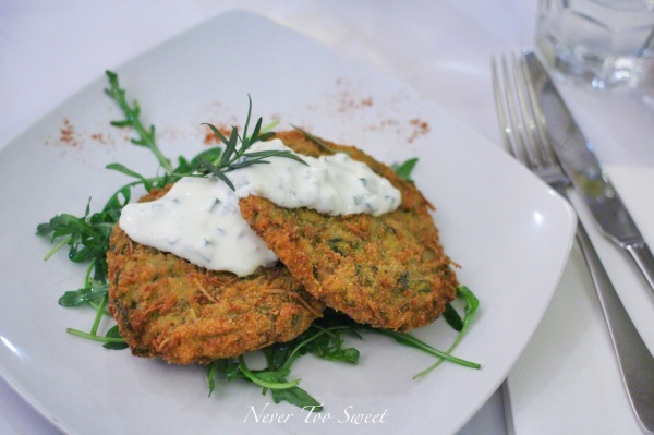 Local Zucchini Fritters $14