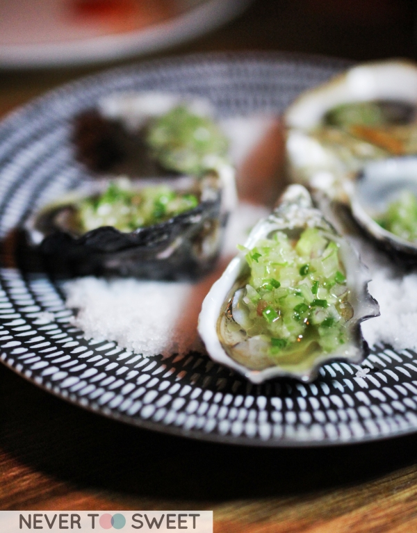 Oysters with Smoked Fennel Dressing