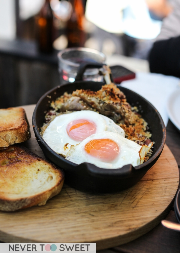 Breakfast Cassolet with confit duck $21