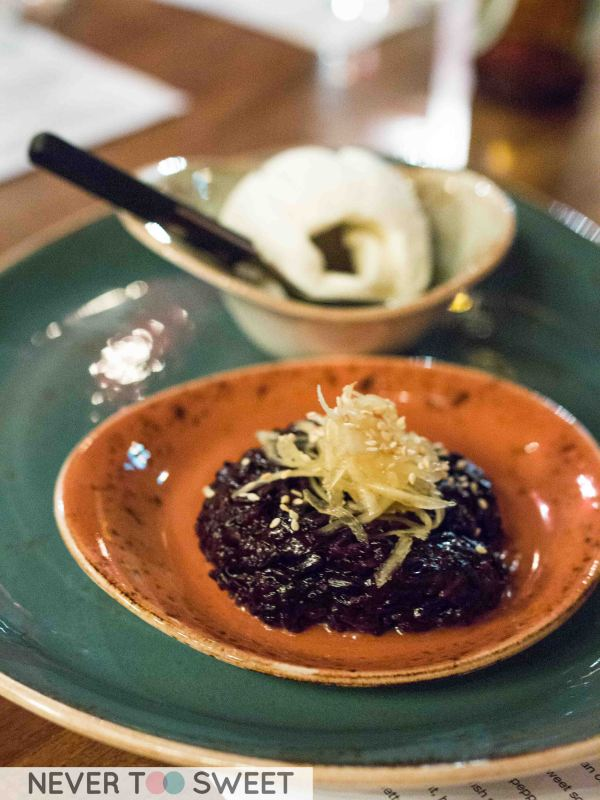 Black Sticky Rice with coconut ice-cream $6.90