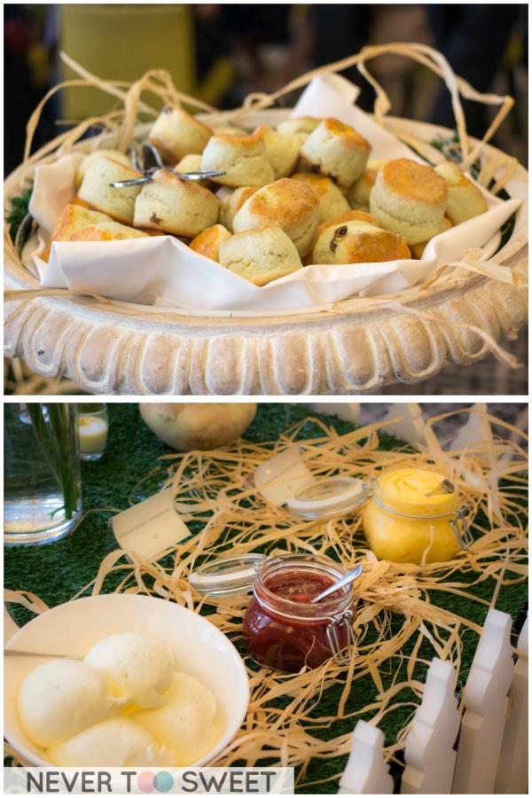 Scones - Vanilla whipped cream, strawberry jam and honey lemon curd