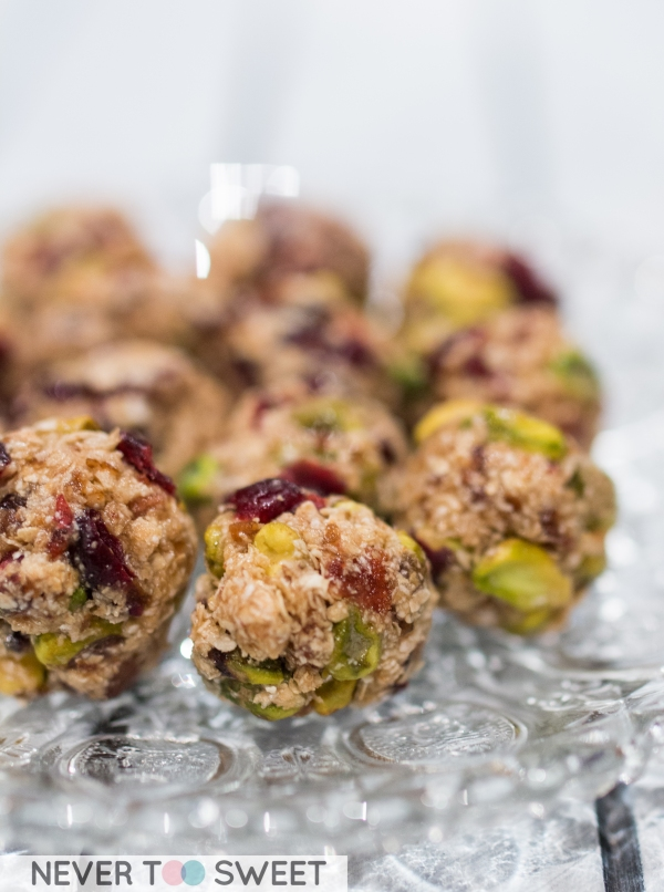 Cranberry and Pistachio Energy Ball