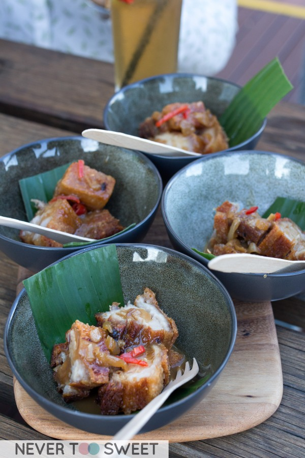 Lechon Kwali - slow braised and crispy fried pork belly