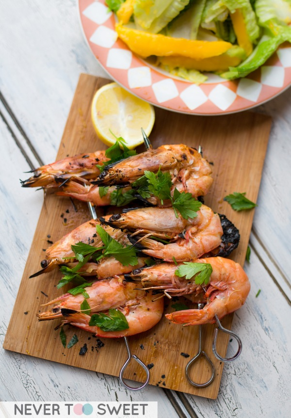 Grilled Prawns on the Weber