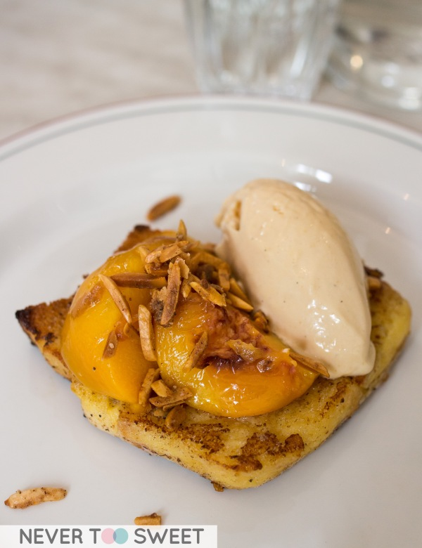 French toast with lemon curd ice-cream $15.9