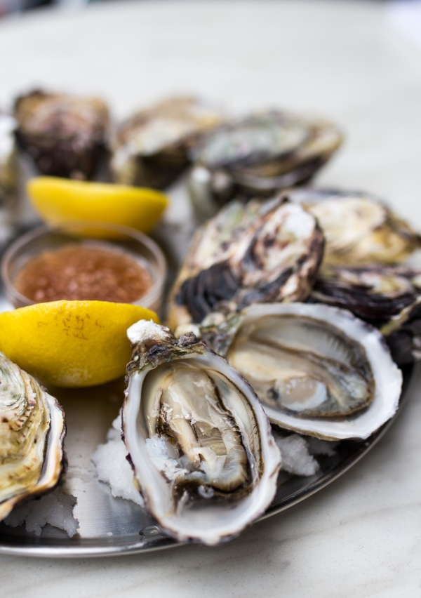 Freshly shucked Oysters $4ea (happy hour $2ea)