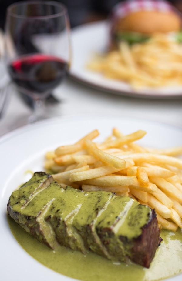 Steak Frites with soft leaves $39.9