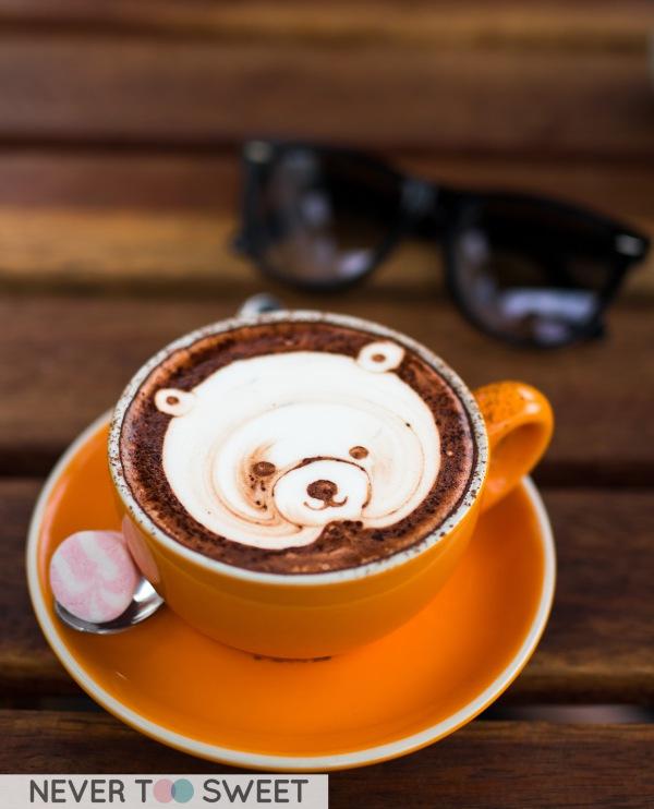 Teddy Bear Latte $3.6