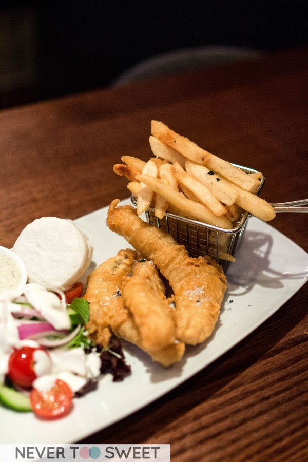 Lager battered flathead tails and tartare sauce $22