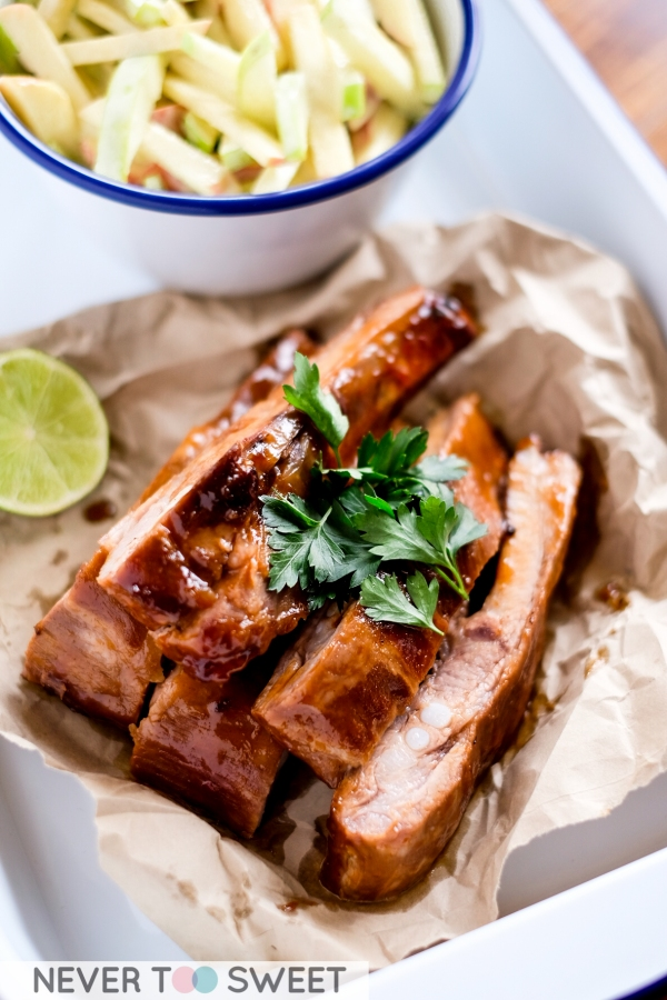 Sticky Smokey Pork Ribs